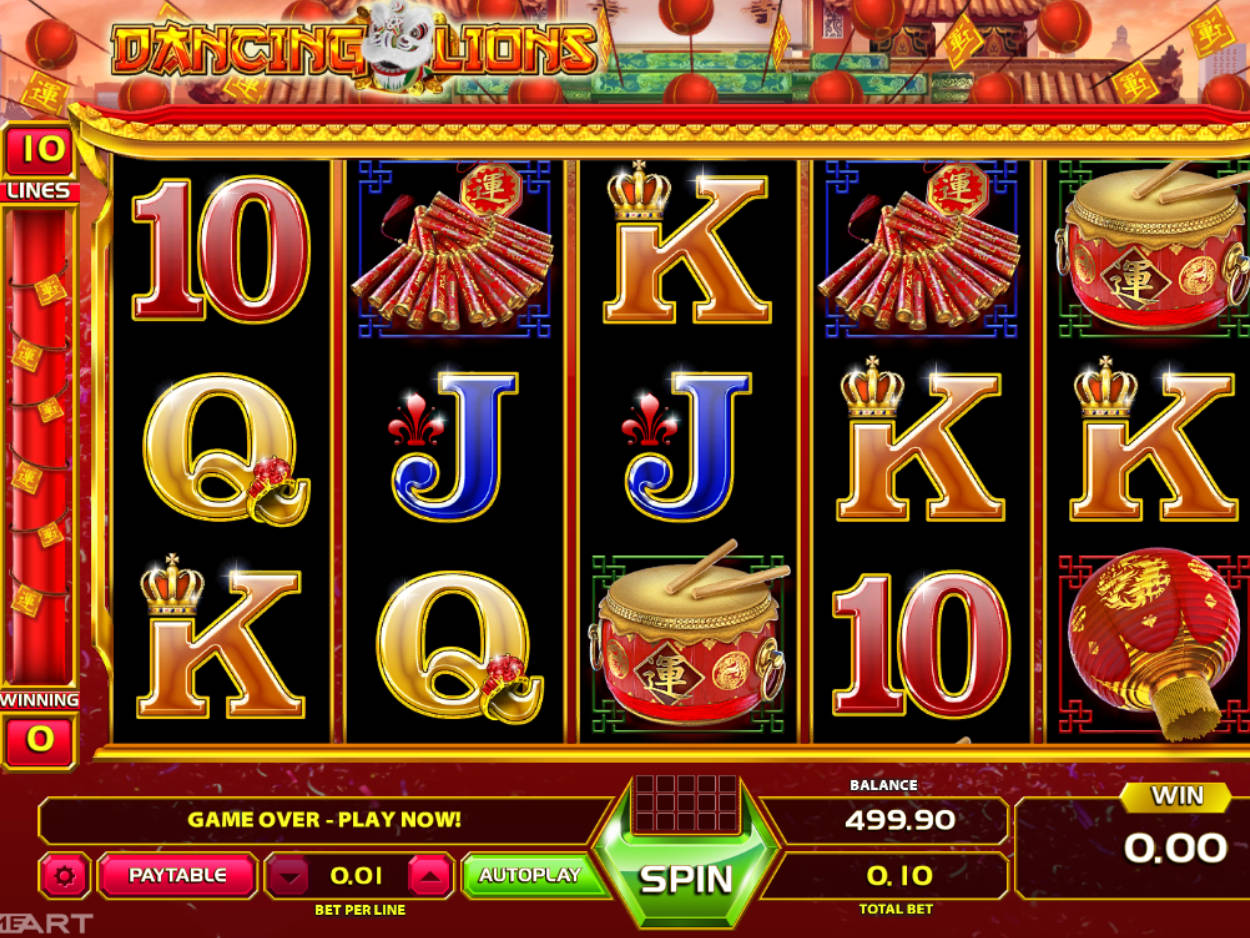 Dancing lion slot machine online gameart Turgutlu