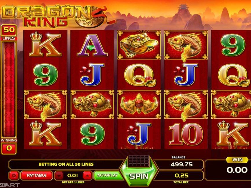Play casino slot game Dragon King