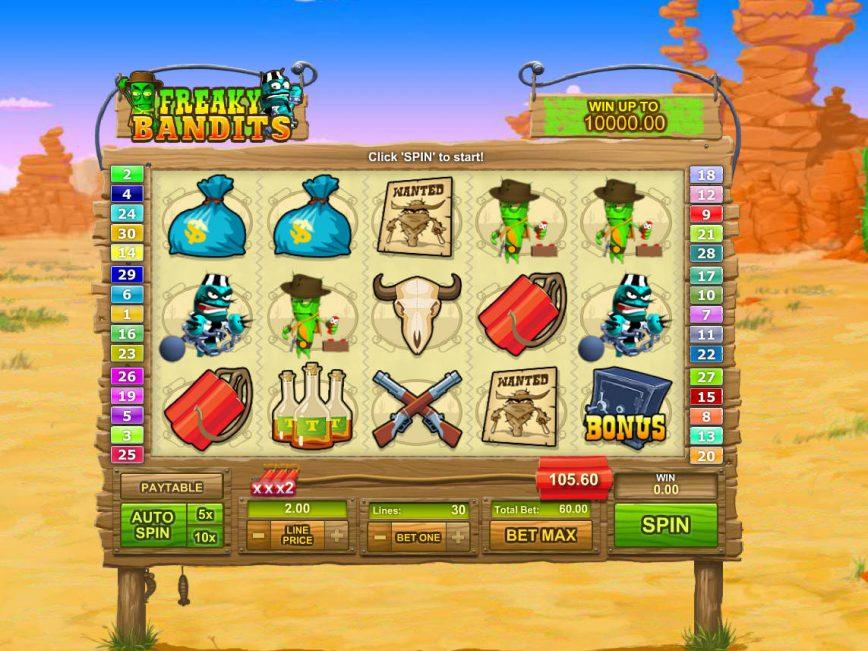 Free casino slot Freaky Bandits online