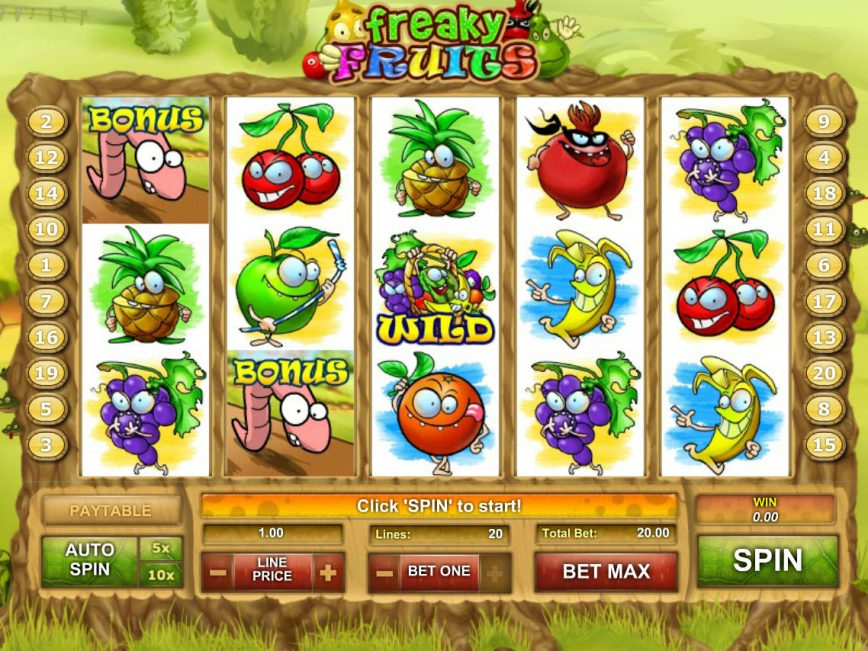 Play free online free slot Freaky Fruits