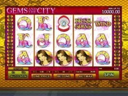 Online free slot Gems and the City
