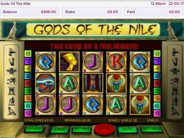 Picture from casino free slot Gods of the Nile