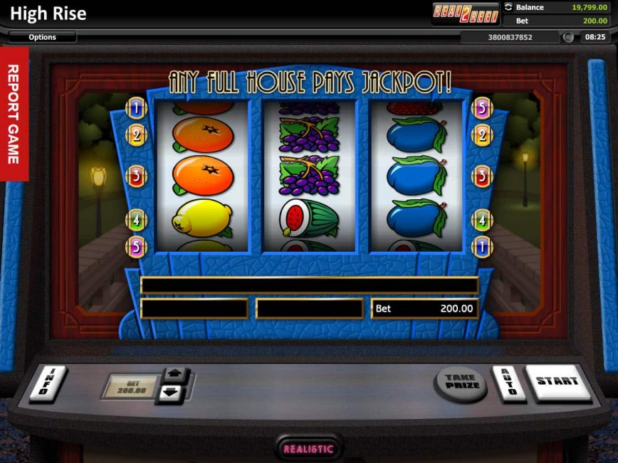 Picture of online slot High Rise