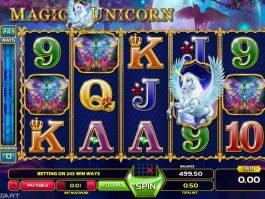 Picture from Magic Unicorn online slot