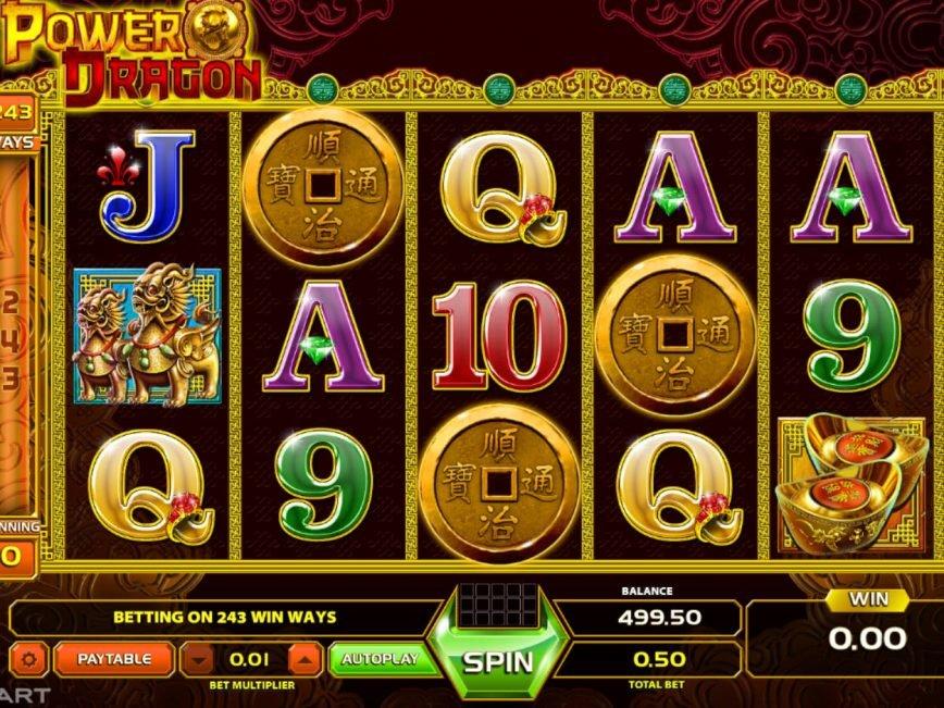 Play free slot machine Power Dragon
