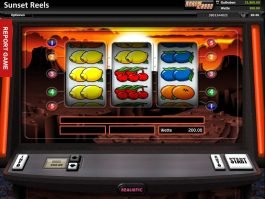 Free casino machine Sunset Reels by Realistic Gaming