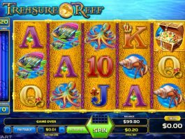 Play slot machine online Treasure Reef