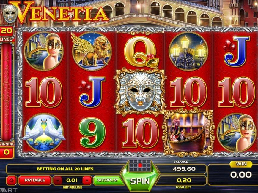 Spin slot machine Venetia online