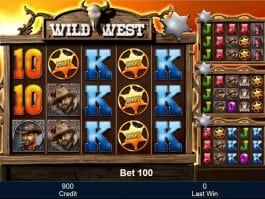 Wild West online slot by Mazooma