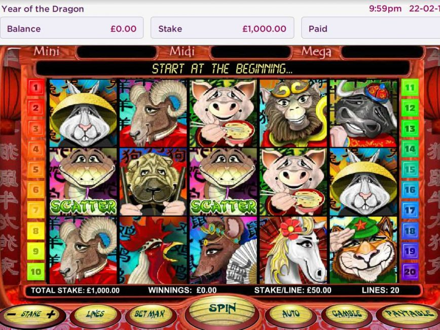 No deposit slot Year of the Dragon for free