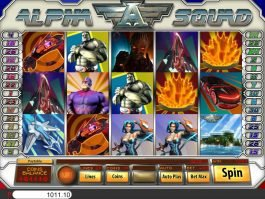 Online slot game Alfha Squad by Saucify
