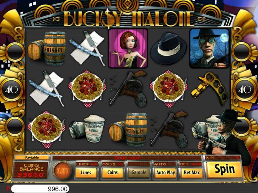 Spin online free game Bucksy Malone