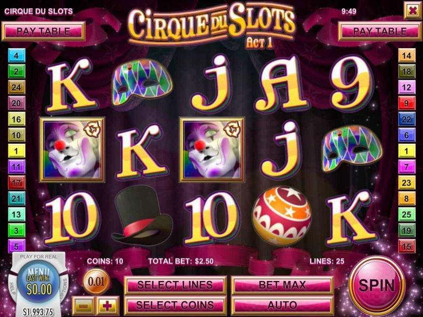 Slot machine Cirque du Slots online