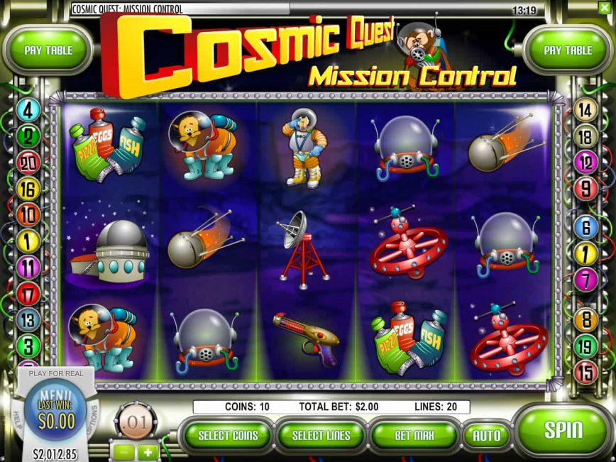Cosmic Quest Mission Control free slot