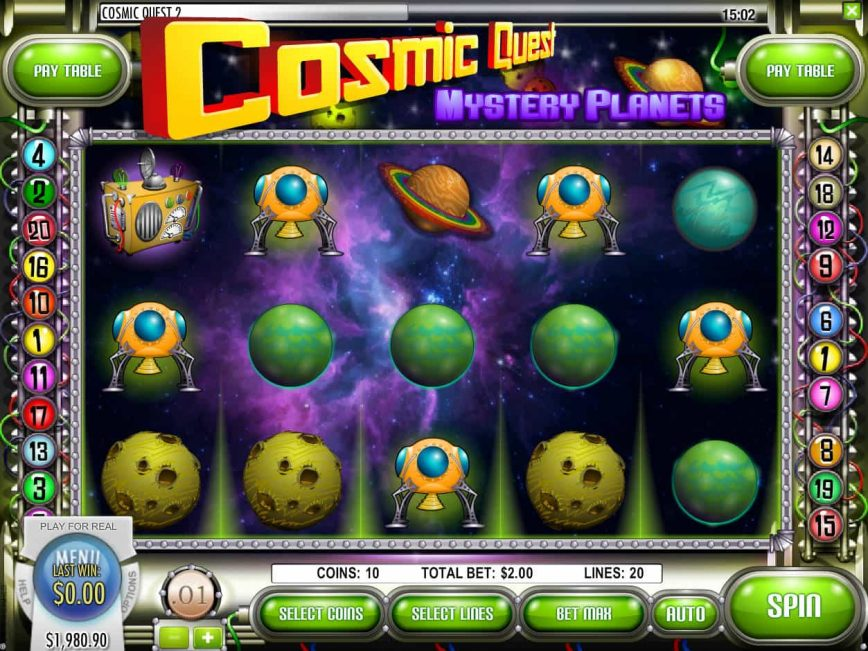 Free casino game Cosmic Quest: Mystery Planets