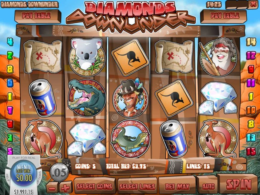 Free online slot Diamonds Down Under