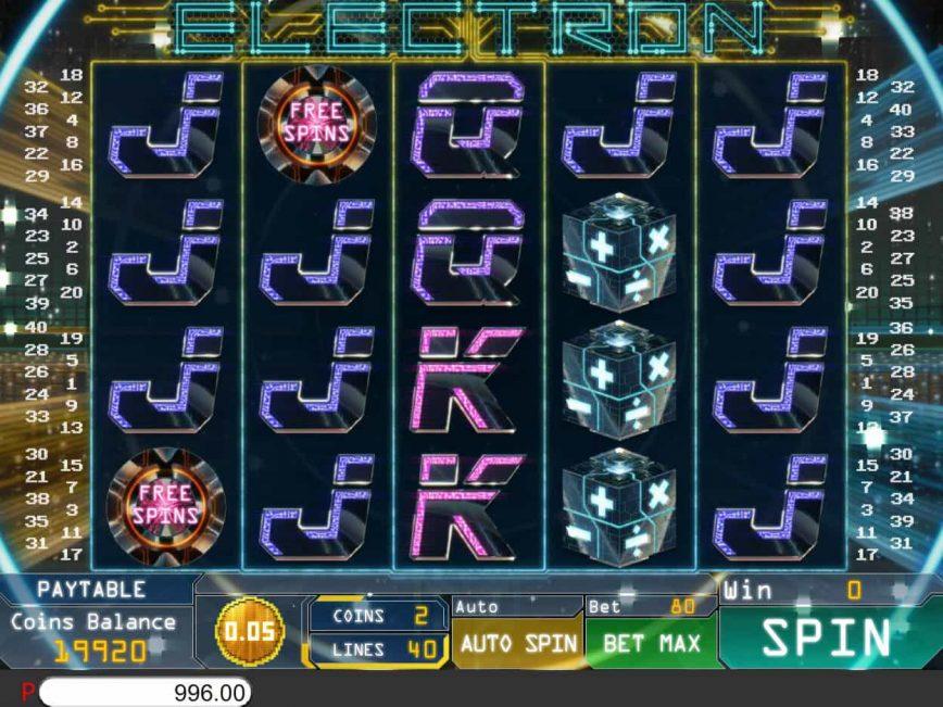 Electron no deposit game for free