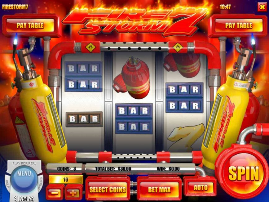 Play slot machine Firestorm 7 by Rival Gaming