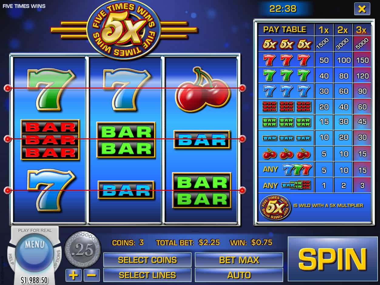 Spiele Five Times Wins - Video Slots Online