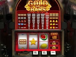 Spin casino game Gold in Bars by GamesOS