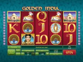 Picture of Golden India casino free slot