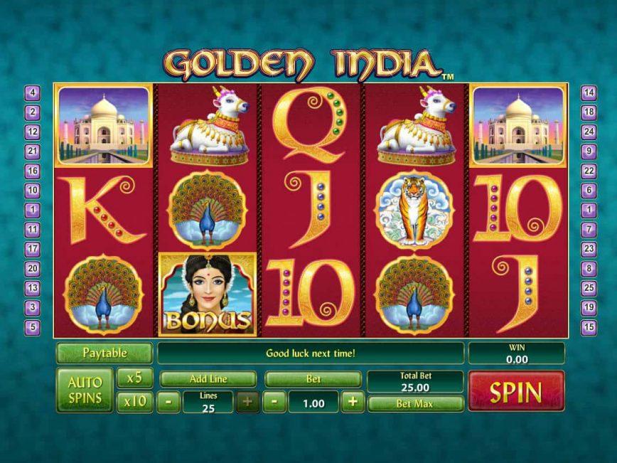 Golden India Slot Machine
