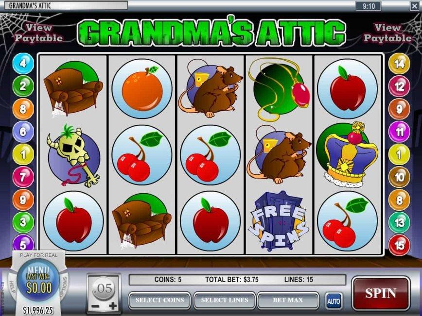 Online free slot Grandma's Attic for fun