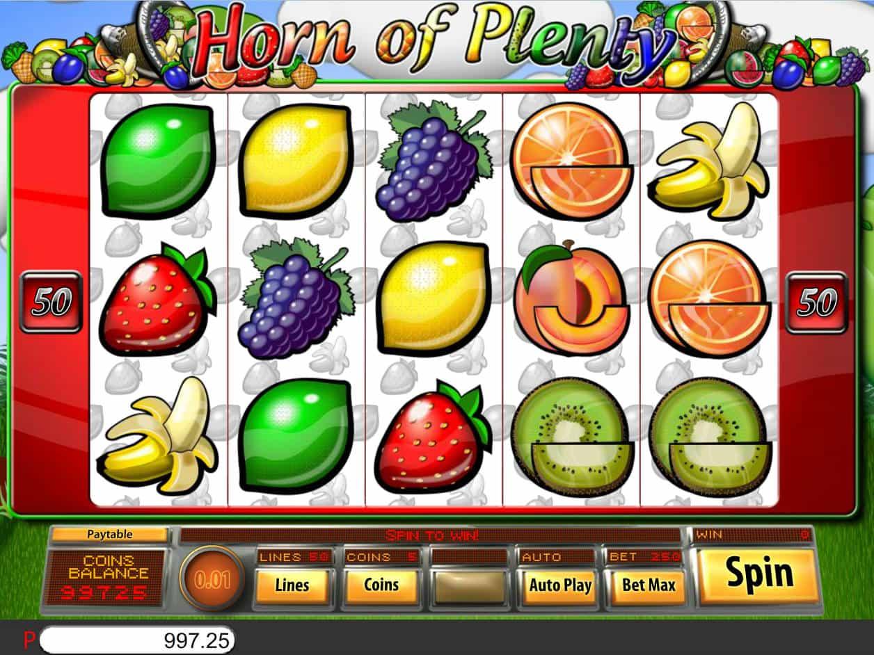 Horn Of Plenty Slot Machine