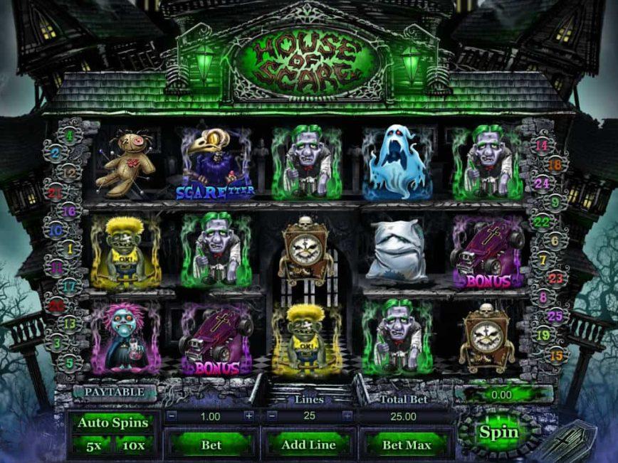 Casino free slot machine House of Scare