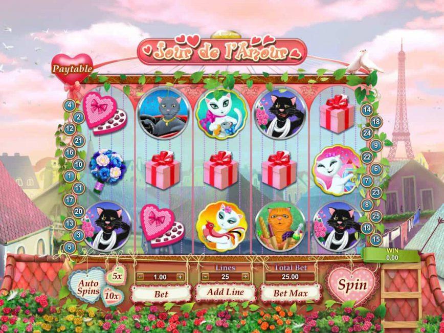 Jour de l'Amour online game by GamesOS
