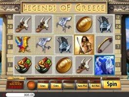 Casino slot machine Legends of Greece