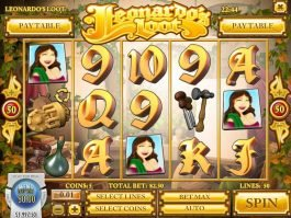 Leonardo's Loot casino slot machine no registration