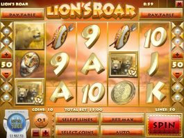 Picture of free slot Lion's Roar