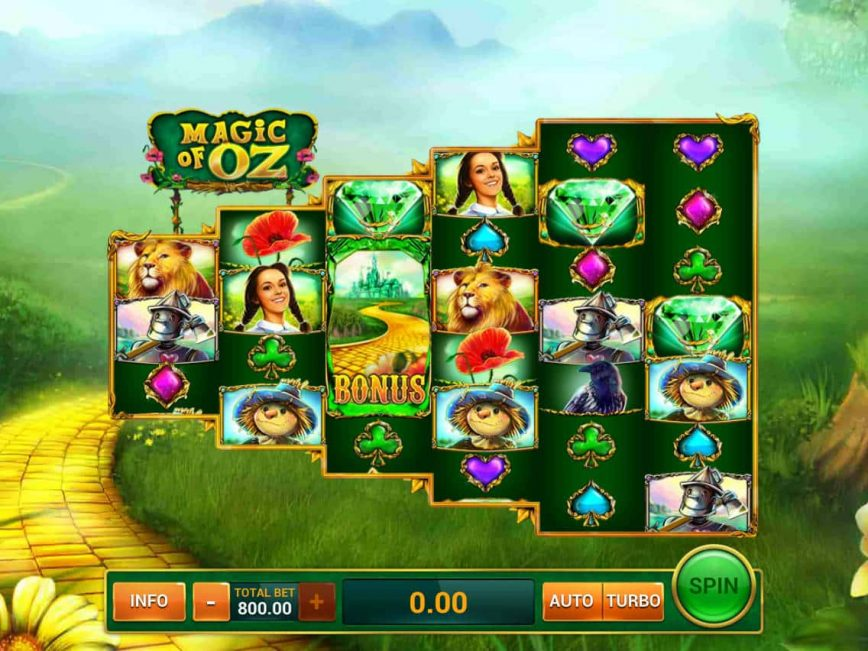 Play free slot game Magic of Oz