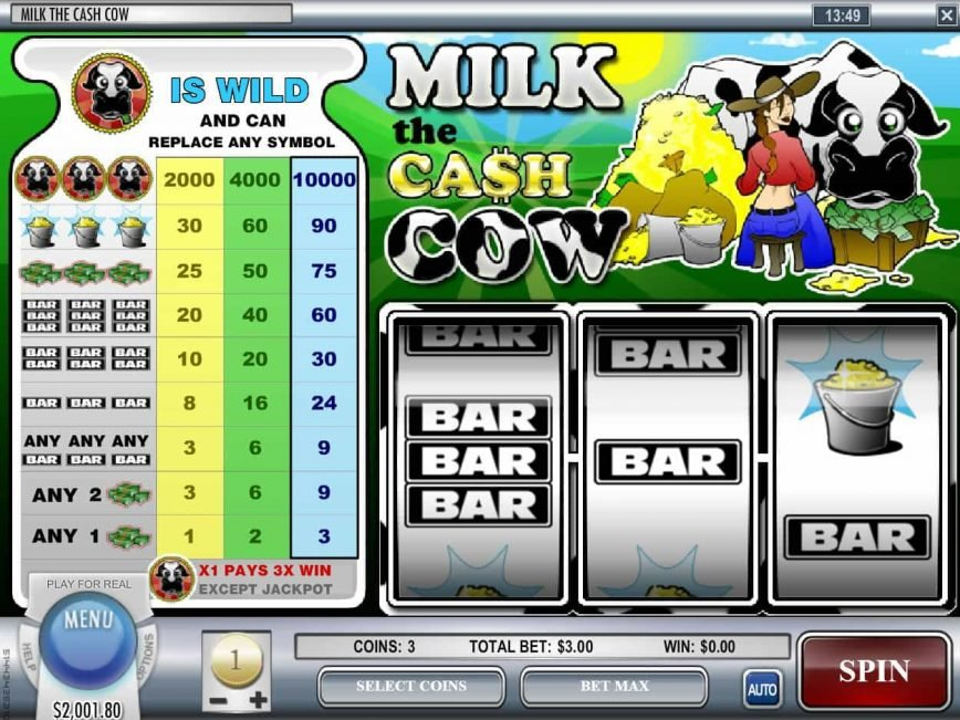 Free casino game Milk The Cash Cow
