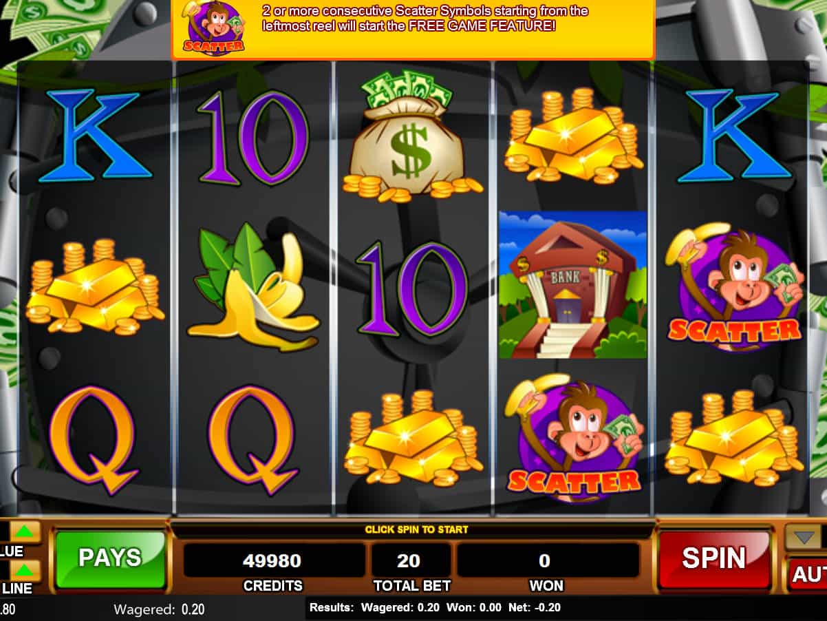 Monkey In The Bank Casino Game