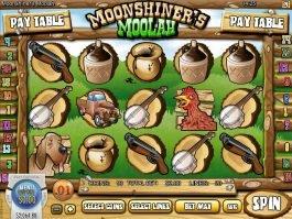 No deposit game Moonshiner's Moolah