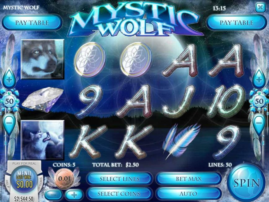 Play free Mystic Wolf slot by Rival Gaming