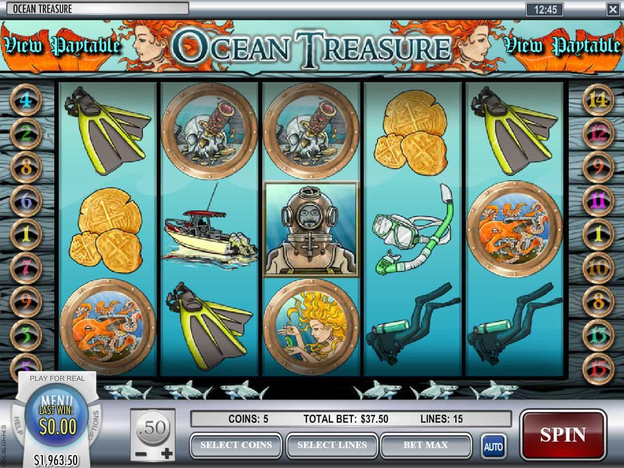 Oceans Treasure Slot Machine