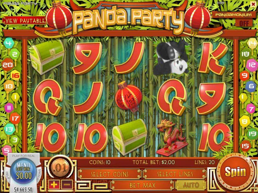 Panda Party slot by Rival Gaming