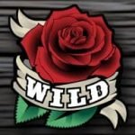 Wild symbol - Pistols and Roses casino game