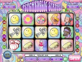 Spin online free slot Psychedelic Sixties