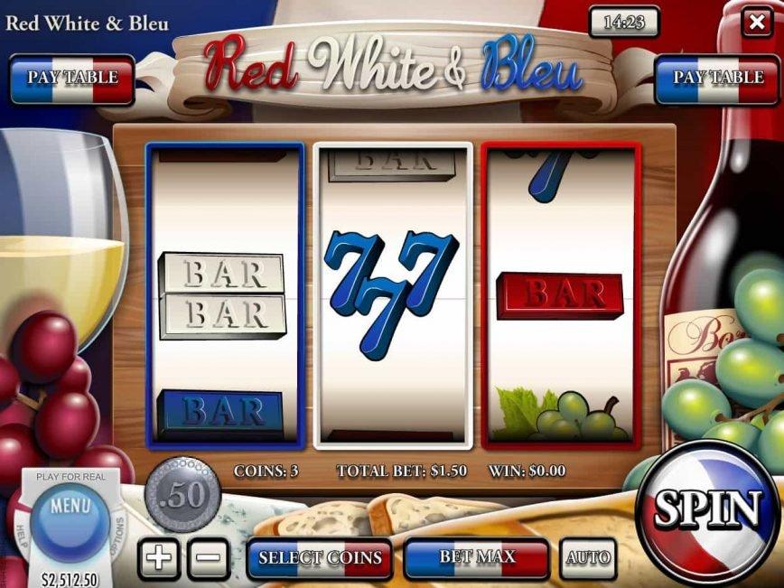 Casino free game Red, White and Bleu
