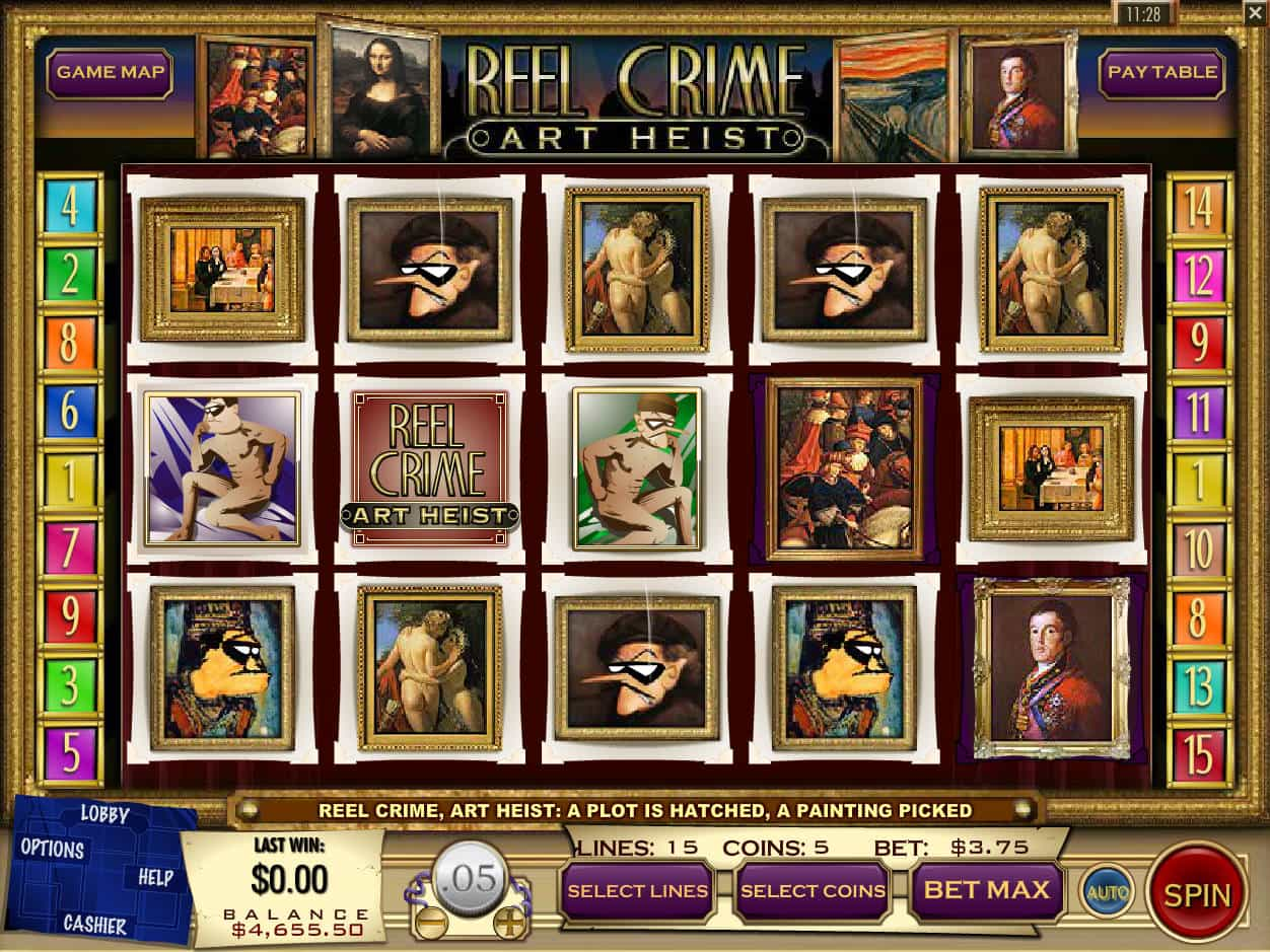 Reel Crime: Art Heist Slots - Play Online for Free