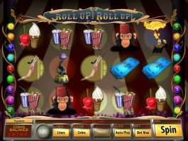 Picture from slot game Roll Up! Roll Up!