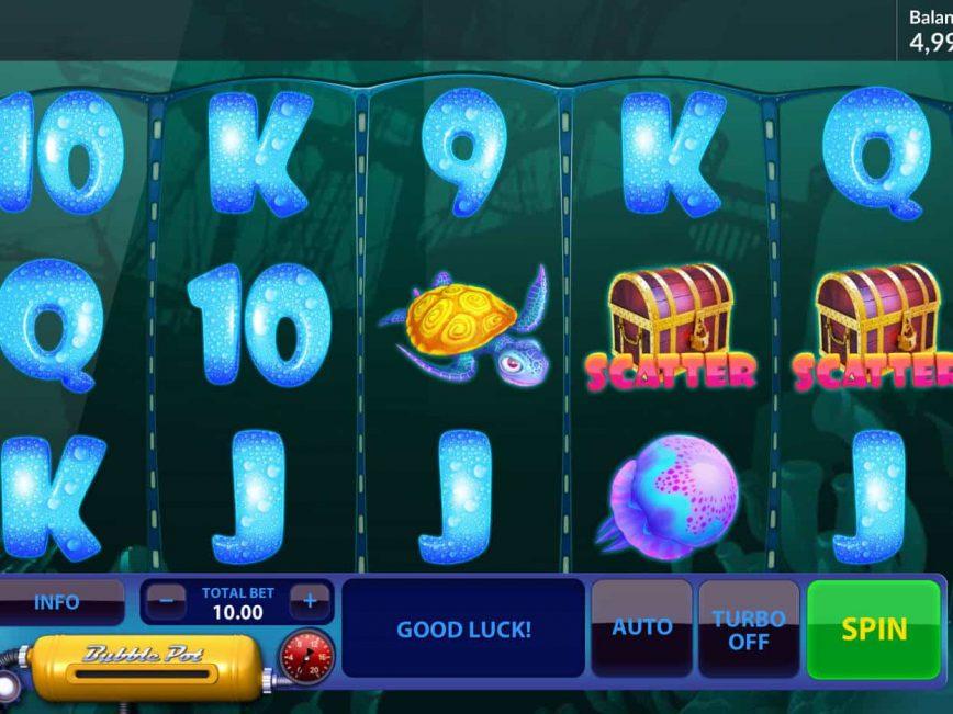 Spin free slot machine Sea of Gold