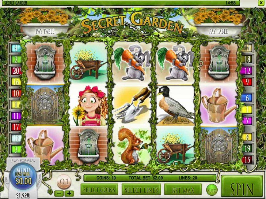 Spin free slot game Secret Garden