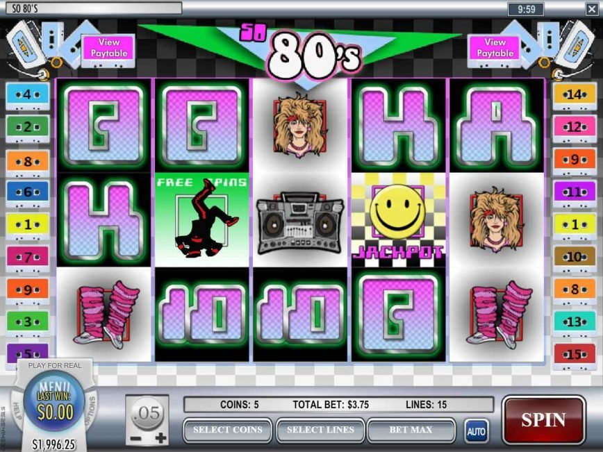 Picture of So 80's online slot