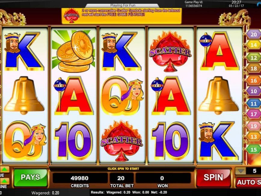 slot machine aams bar