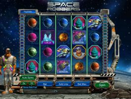 Slot machine Space Robbers no deposit